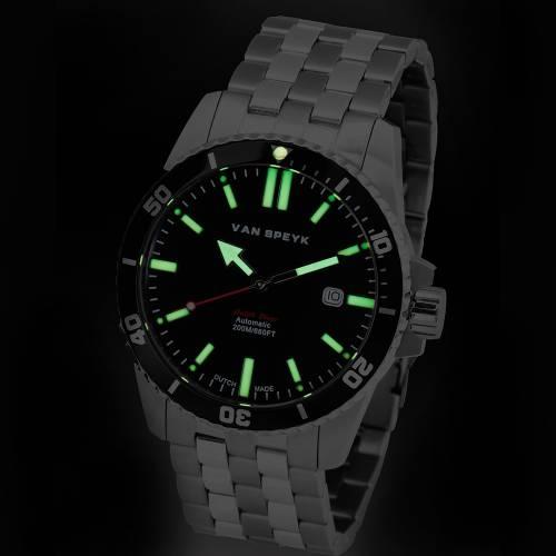 Van Speyk Black Dutch Diver  Watch
