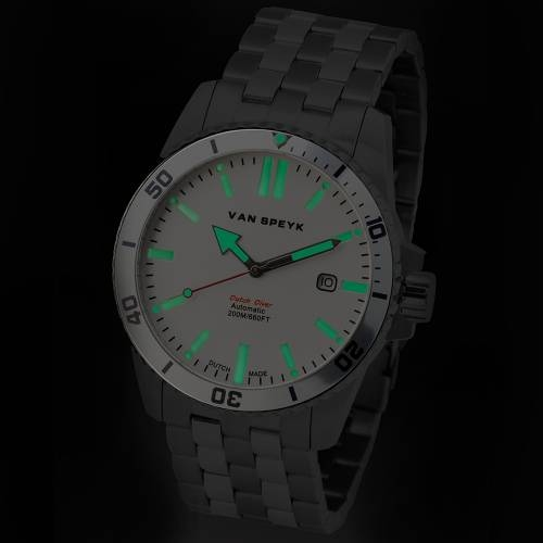 Van Speyk White Dutch Diver Watch