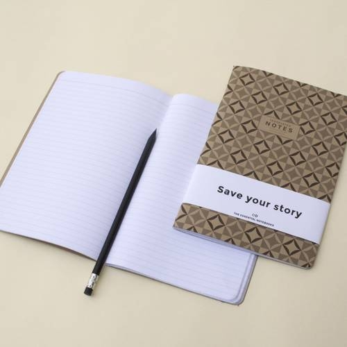 Tesselated Notebook | Set of 3 | Octagon Design