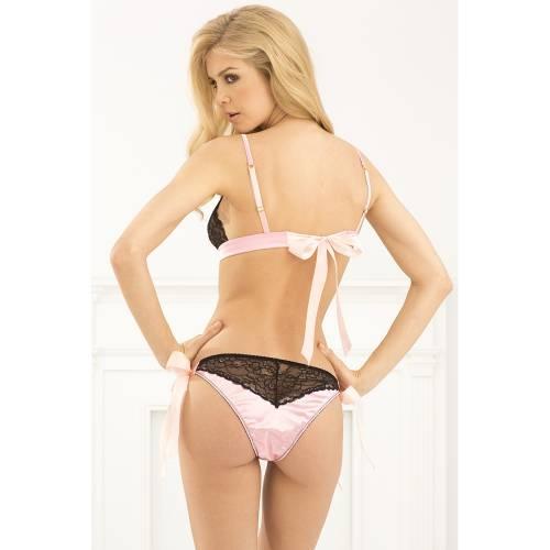 René Rofé   2-Piece Bow bourdior bra & panty set