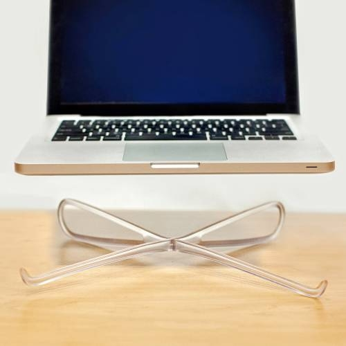 Prop laptop stand