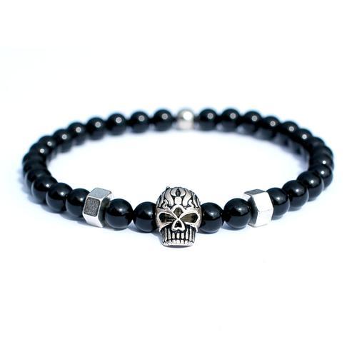 Mad Sterling Silver Skull