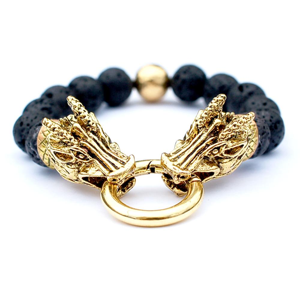 22K Gold Plated Dragon Bracelet | Who's Lookin' Design