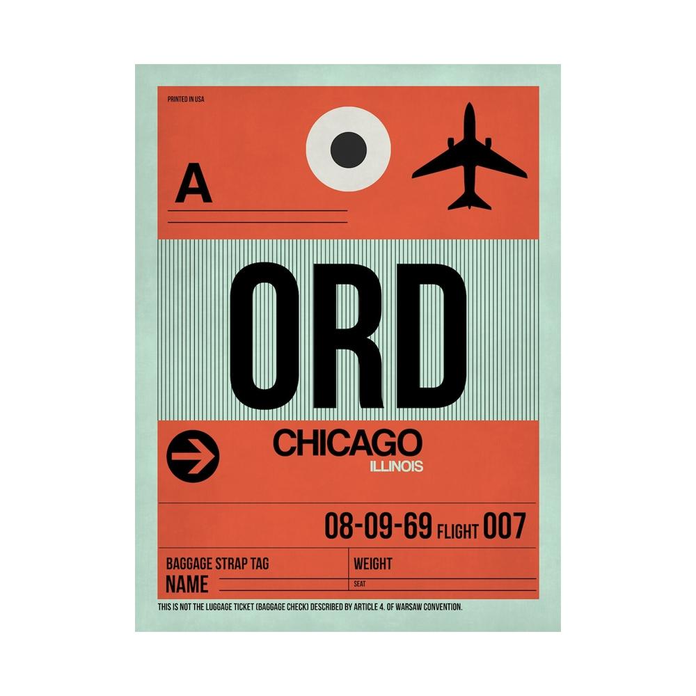 NaxArt   ORD Chicago Poster