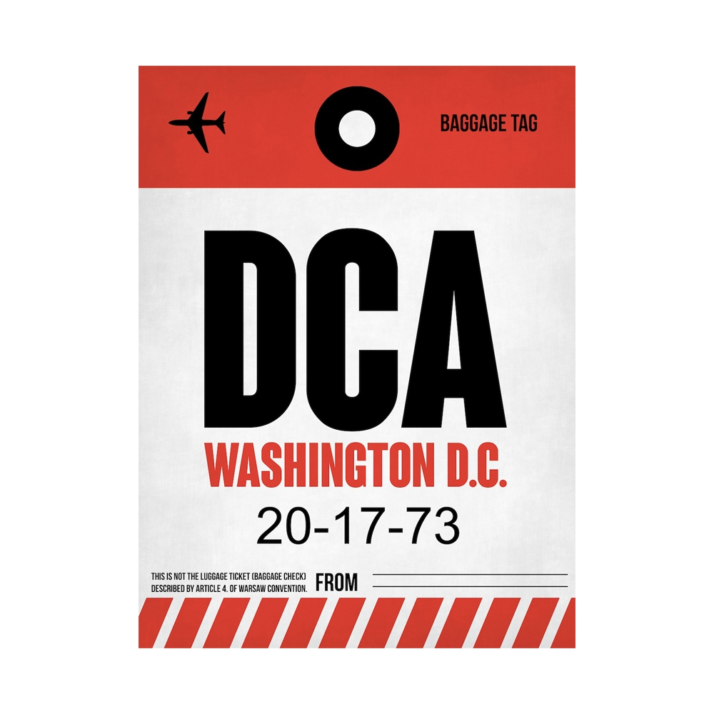 NaxArt | DCA Washington Poster