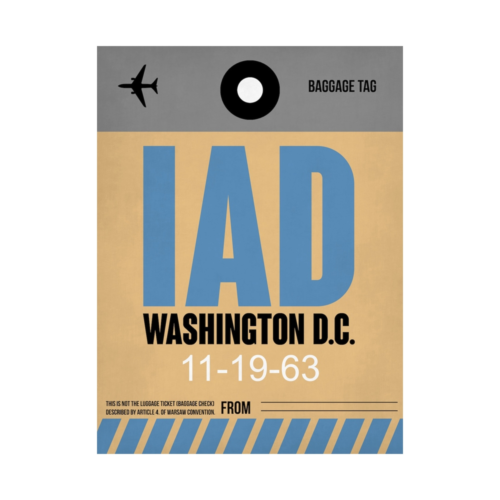 NaxArt | IAD Washington Poster