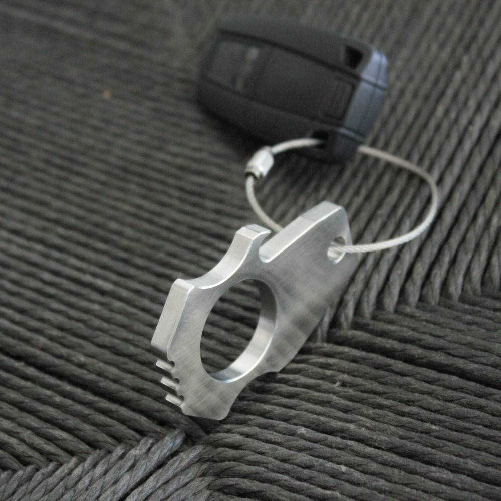 Stainless Steel Bottle Opener Keychain   Bastion
