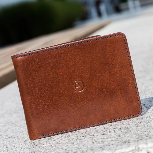 Dark Brown Slim Leather Wallet | Danny P