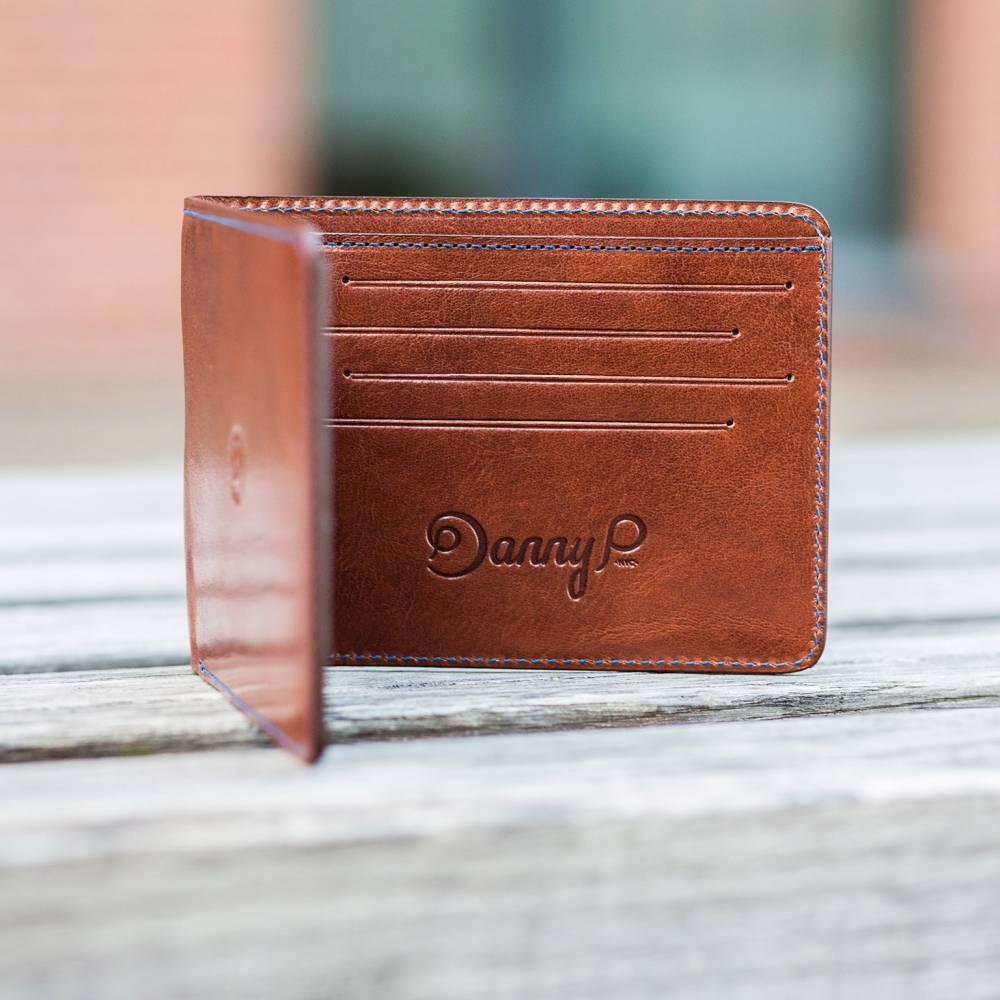 Dark Brown Slim Leather Wallet | Danny P