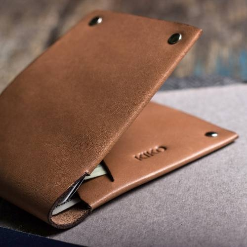Unstitched Leather Billfold Wallet | Kiko Leather