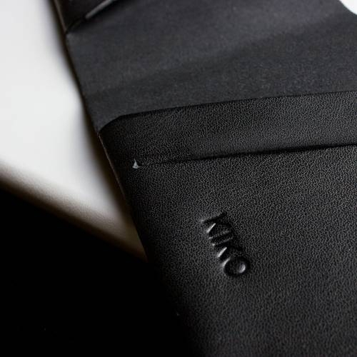 Unstitched Leather Billfold Wallet   Kiko Leather