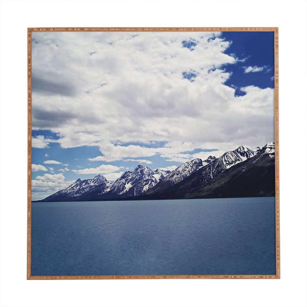 Leah Flores Grand Tetons X Colter Bay Framed  | Deny Designs