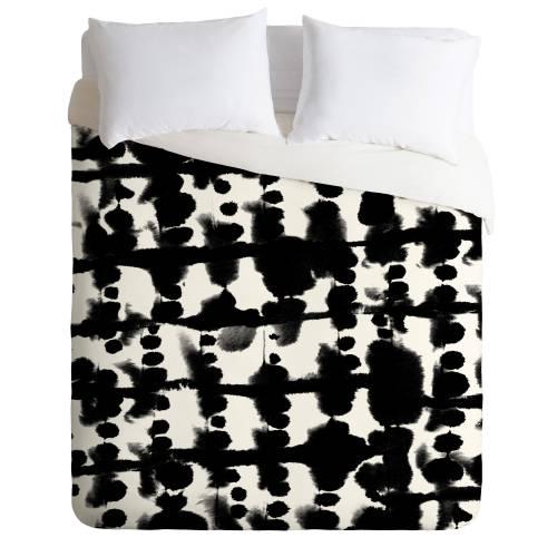 Parallel Black & White Duvet Cover