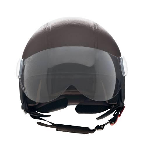 Basic Leather Helmet   Brown