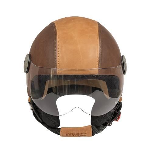 Leather Helmet | Grey Bicolor