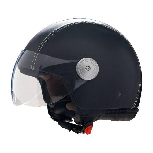Leather Helmet | Vintage Black