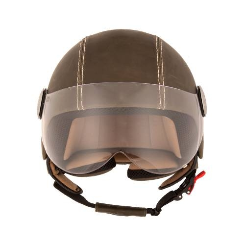 Leather Helmet | Vintage Arm Green