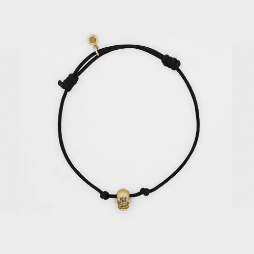 Skull Bracelet | Gold with Diamond Eyes