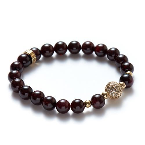 Garnet | Gold Ball Hers Bracelet