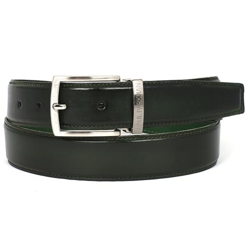 Men's Leather Belt |  Dark Green