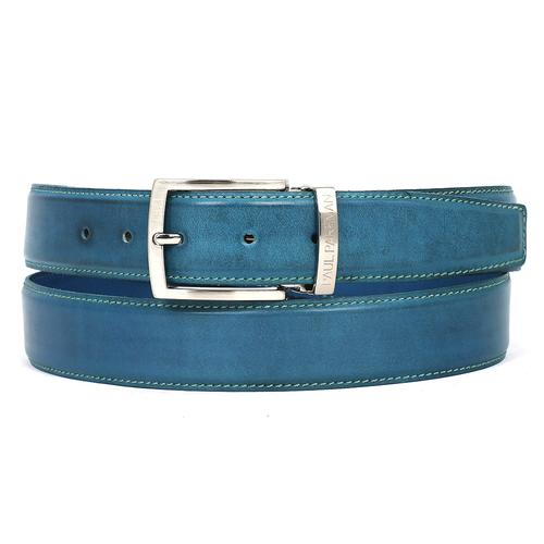 Men's Leather Belt | Sky Blue