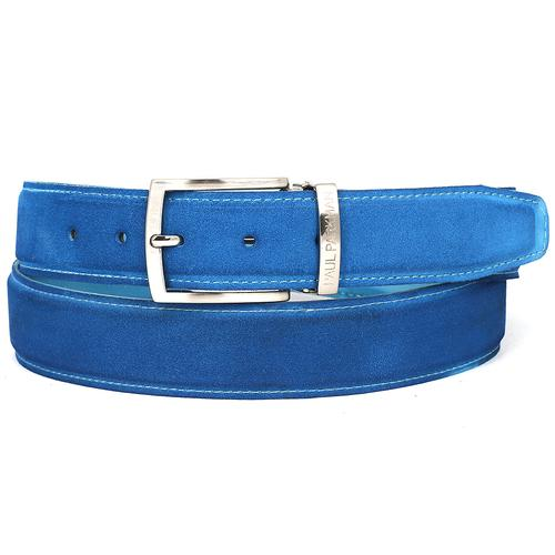 Men's Blue Suede Belt | Blue