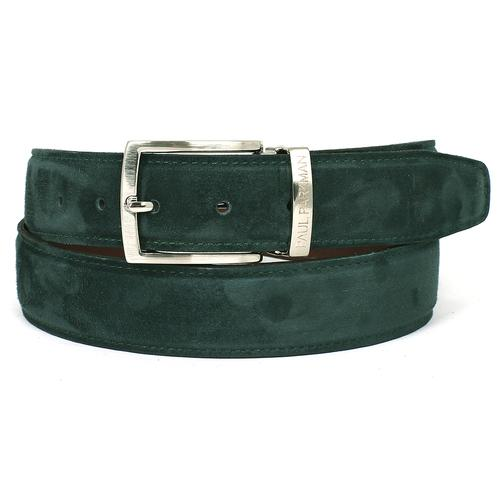 Men's Green Suede Belt | Green