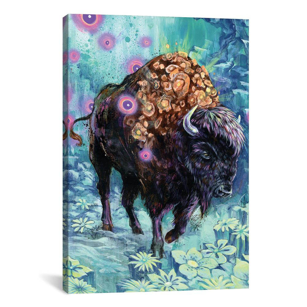 Buffalo Bloom by Black Ink Art Canvas Print