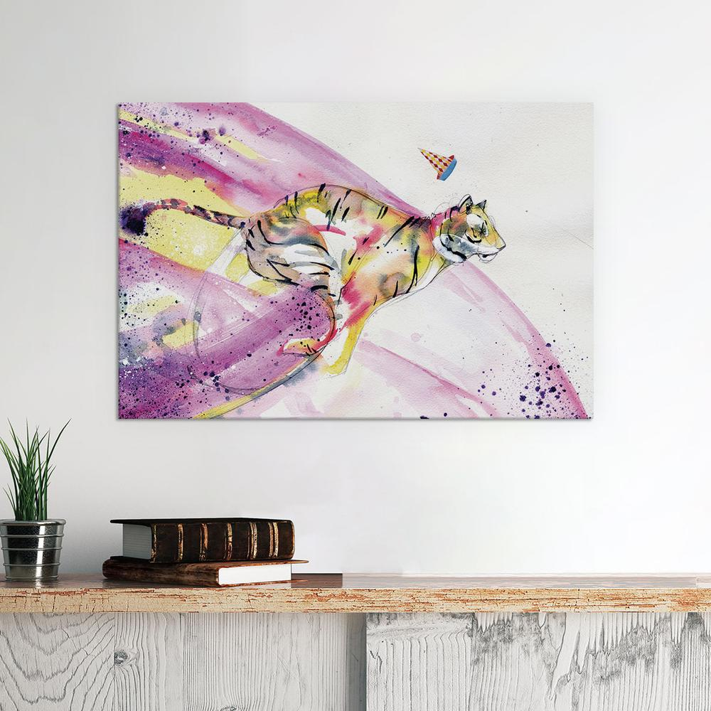 Fashionably Late by Black Ink Art Canvas Print