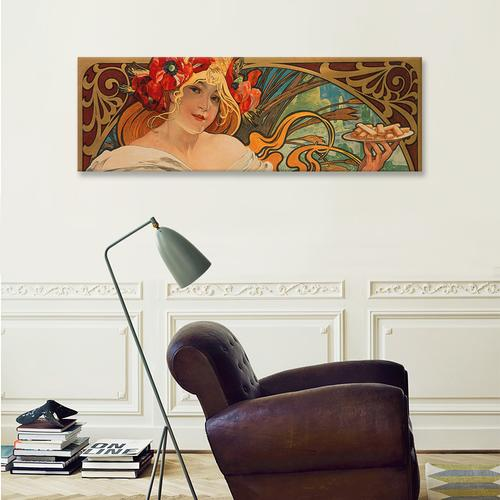 Biscuits Lefevre Utile by Alphonse Mucha Canvas Print