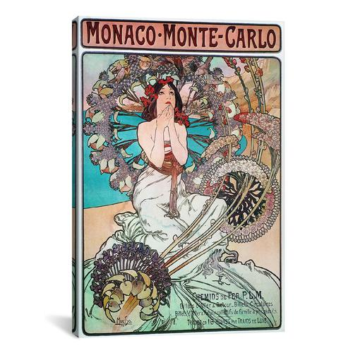 Monaco, Monte Carlo, 1897 by Alphonse Mucha Canvas Print