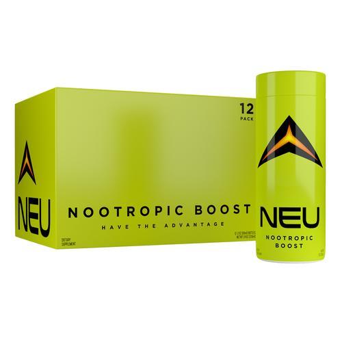 NEU Nootropic Boost | Pack of 12 | Nootropic Energy Drink