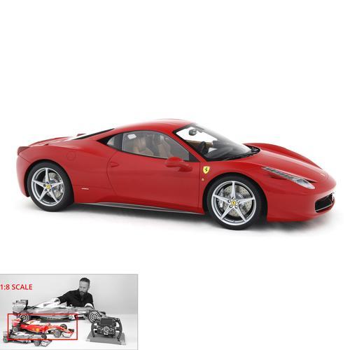 Ferrari | 458 Italia | Amalgam | 1:8 Scale Model Car