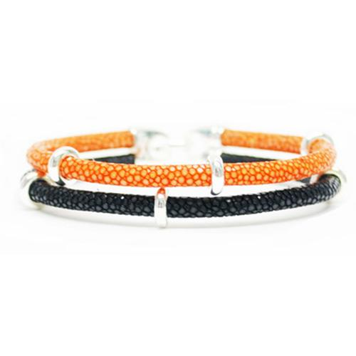 Bracelet | 2x Sting | Orange/Black/Silver
