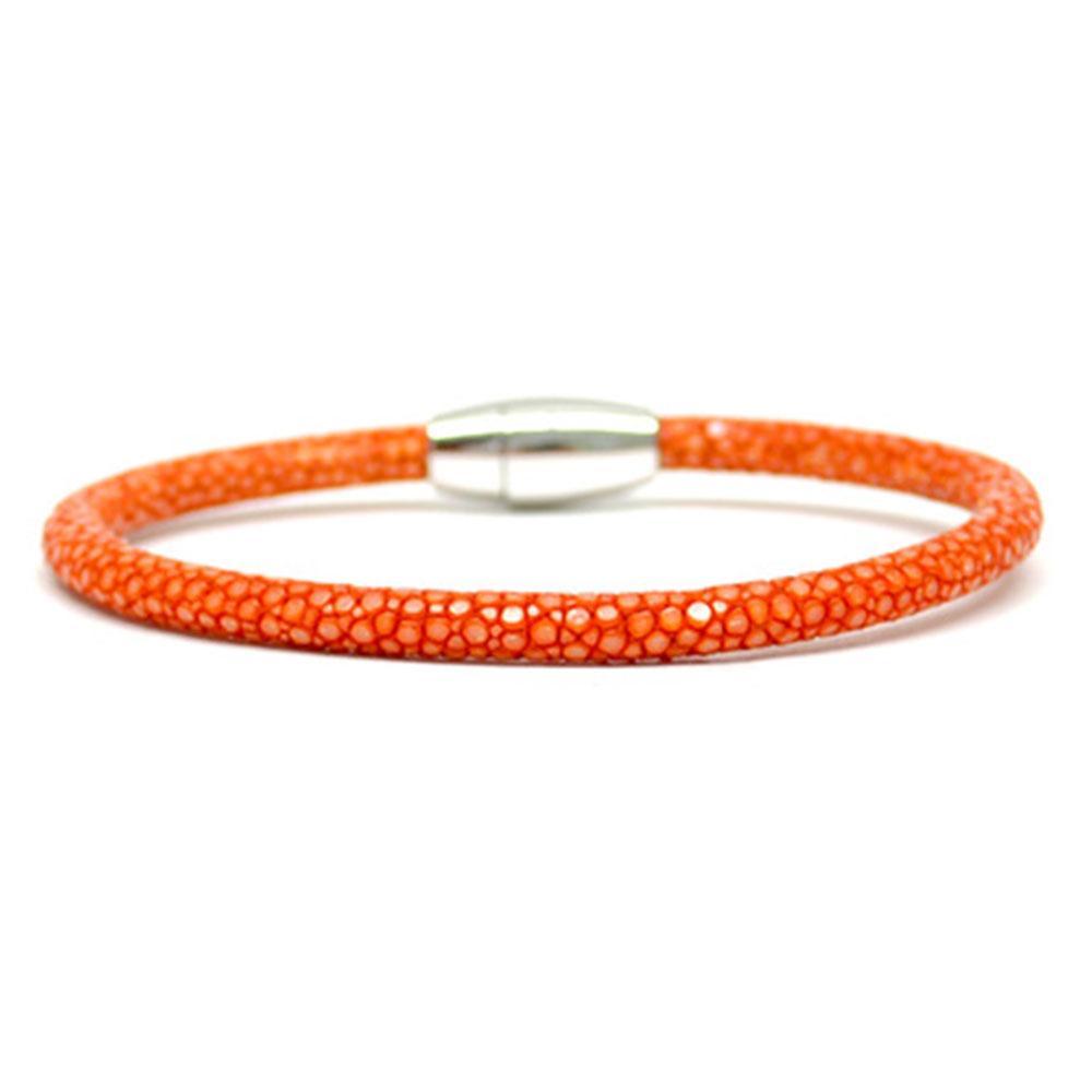 Single Stingray Bracelet   Orange   Double Bone