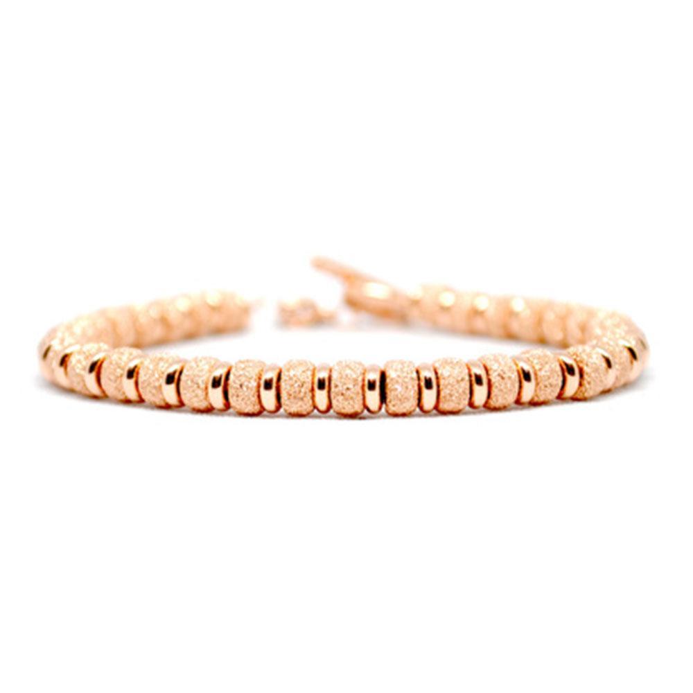 Multi Beaded Bracelet | Rose Gold Beads | Double Bone