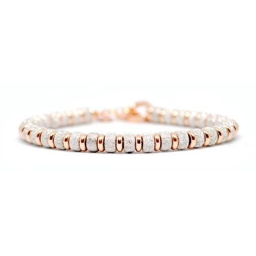Bracelet | Multi Beads | White/Rose Gold