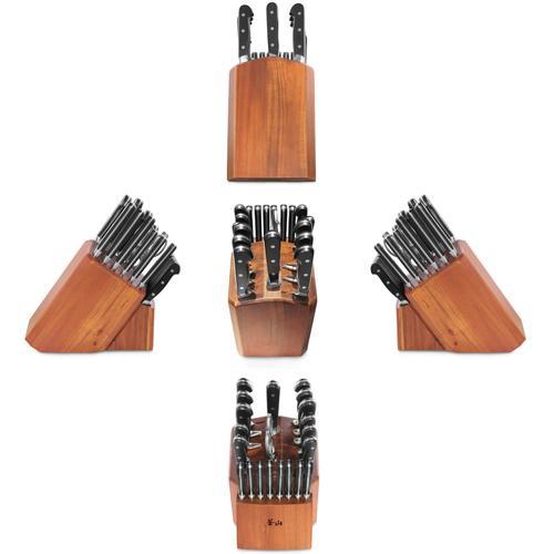 V2 Series | 22-Piece Set | Acacia Wood Block | Cangshan
