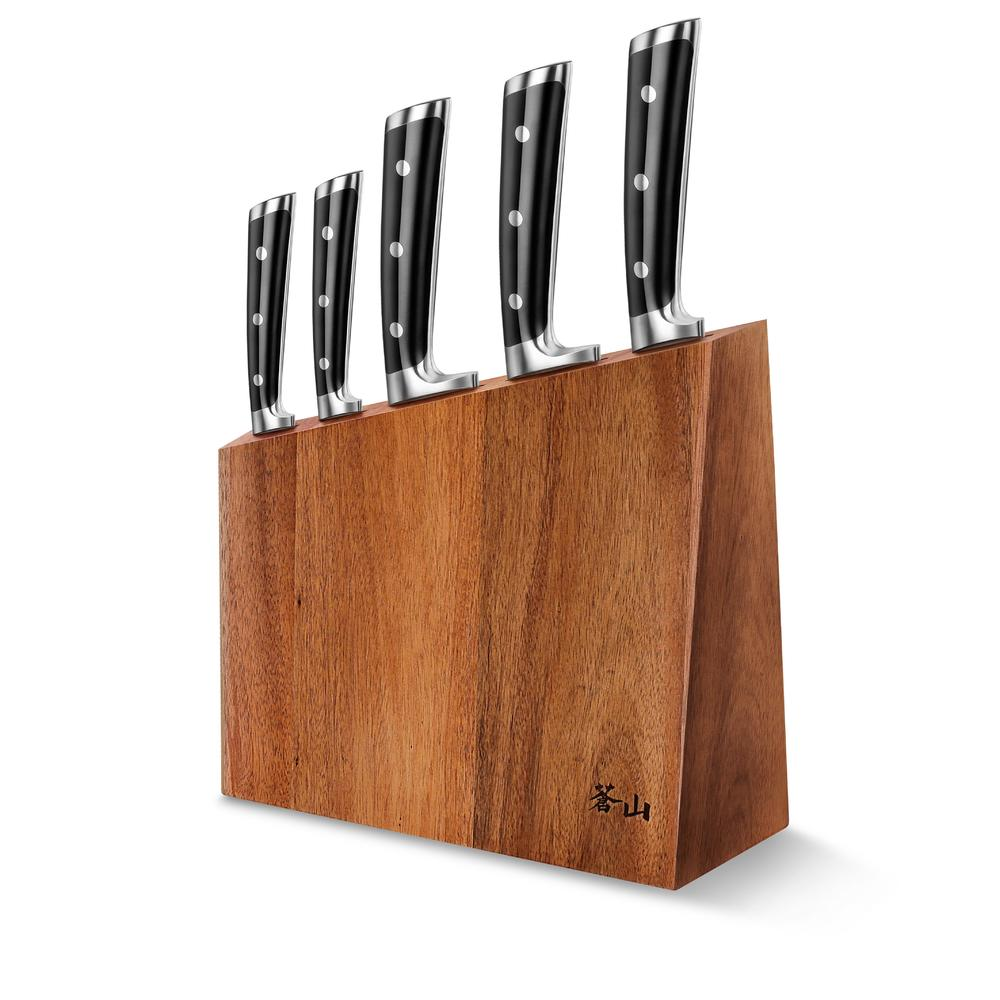 S Series | 6-Piece Set | Acacia Wood Block | Cangshan