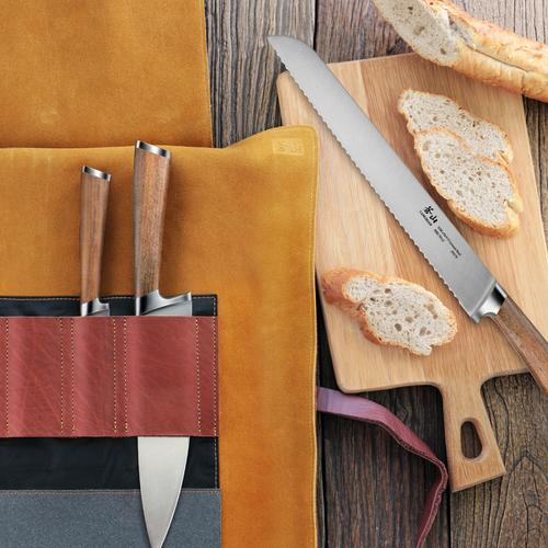 H1 Series | 4-Piece Knife Set | Teak / Leather | Cangshan