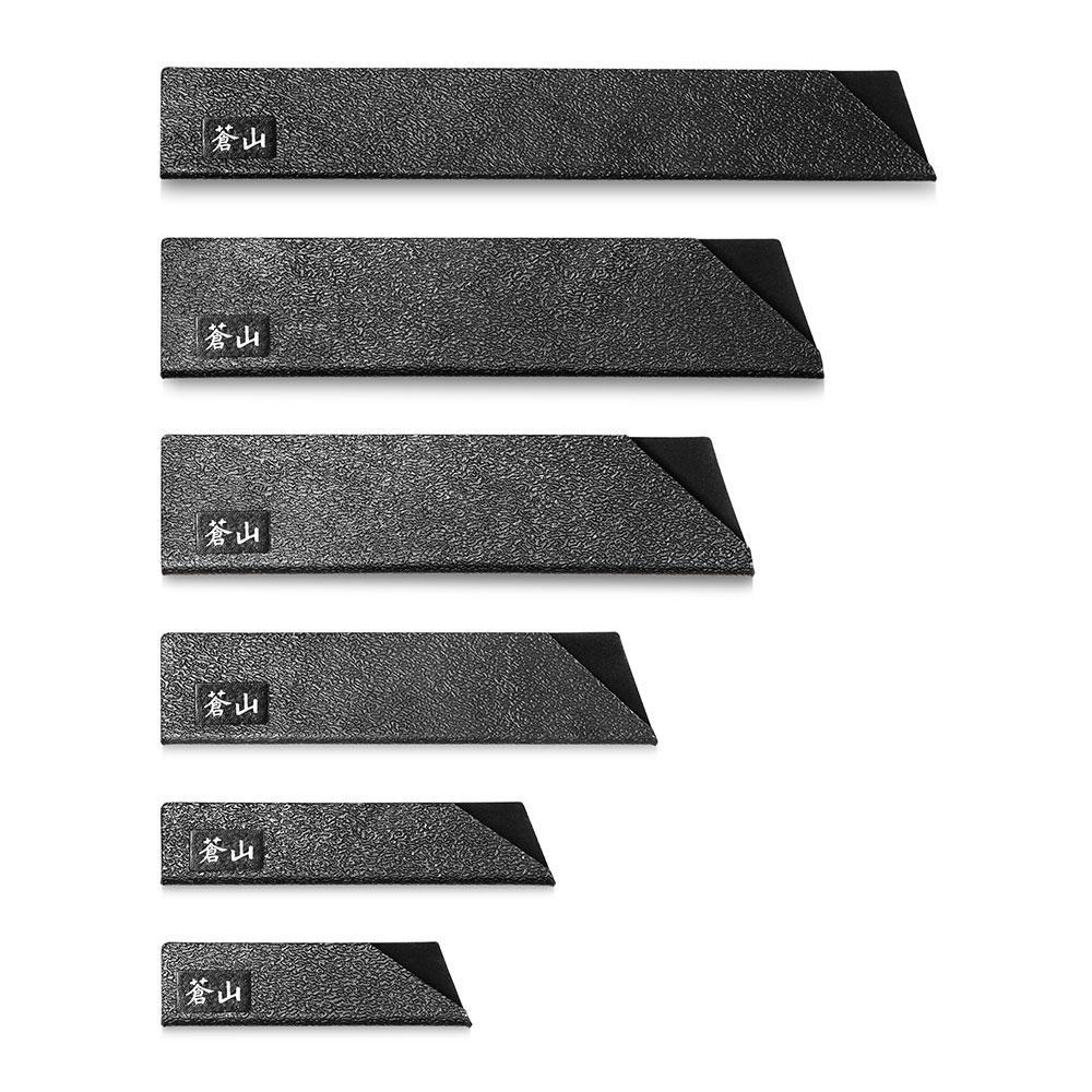 6pc knife edge guard set black cangshan. Black Bedroom Furniture Sets. Home Design Ideas