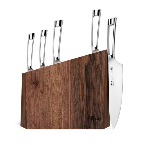N1 Series 6-Piece Set   Walnut Wood Block