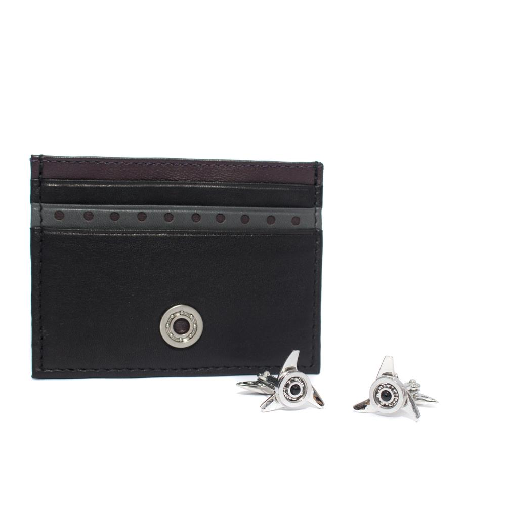 Card Holder / Cufflinks Gift Set | Gallettone | GTO London
