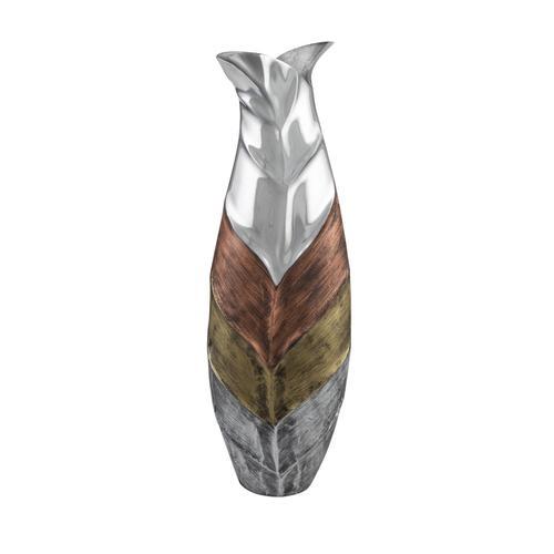 Tri- Tone Leaf Bottle Vase