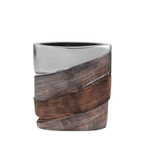 Rectangle Tri-Tone Aluminum Vase
