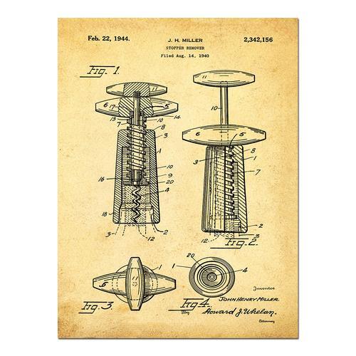 Corkscrew-1944 Sepia/Antique   Paper