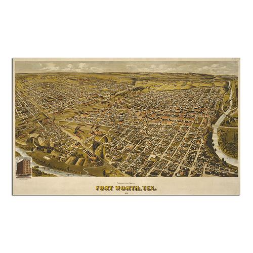 Fort Worth, TX 1891 | Paper