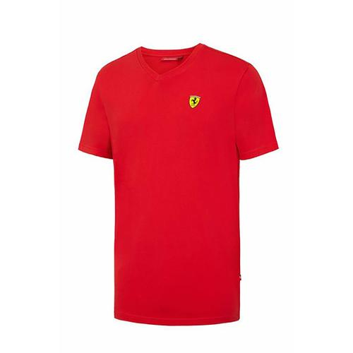 Scuderia Ferrari V-Neck T-Shirt | Red