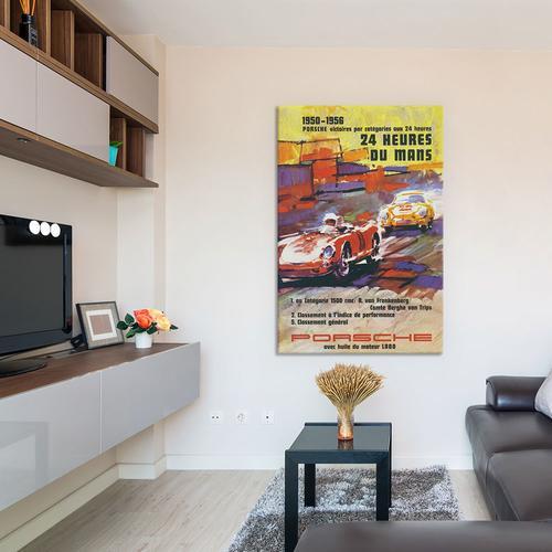 Porsche 356 & Spyder Le Mans Racing Vintage Poster