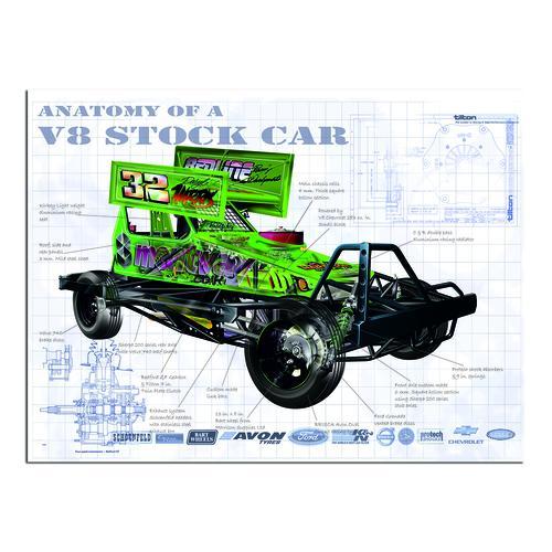 Anatomy V8 Stockcar | Paper